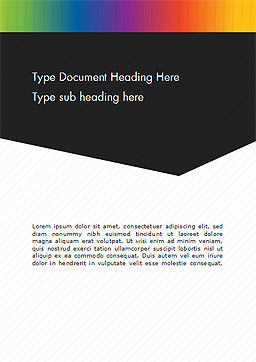 Black and White Corporate Background Word Template Cover Page