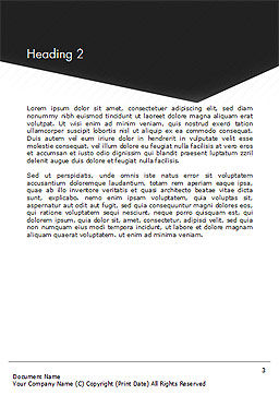 Black and White Corporate Background Word Template Second Inner Page
