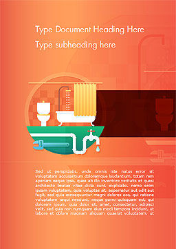 Home Plumbing Services Word Template, Cover Page, 14588, Careers/Industry — PoweredTemplate.com