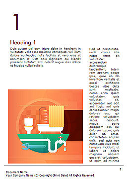Home Plumbing Services Word Template, First Inner Page, 14588, Careers/Industry — PoweredTemplate.com