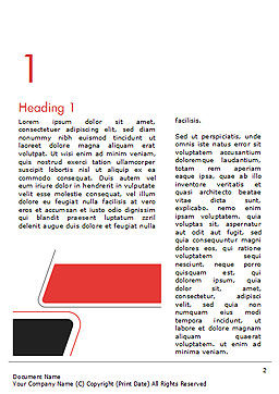 Rounded Shapes Word Template First Inner Page