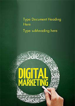 Digital Marketing Word Cloud Word Template Cover Page