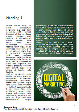 Digital Marketing Word Cloud Word Template First Inner Page