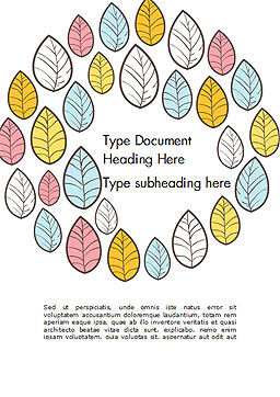 Leaf Background Word Template Cover Page