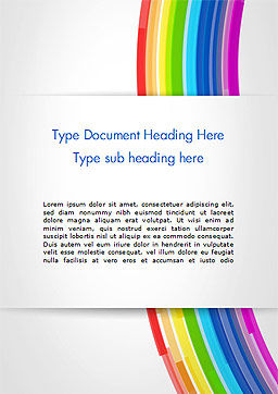 Bright Abstract Rainbow Swoosh Lines Word Template Cover Page