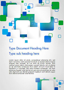 Abstract Overlap Squares Word Template Cover Page