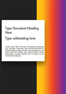 Abstract Gradient Background Word Template Cover Page