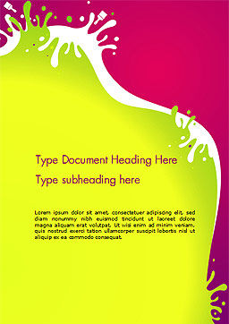 Colorful Splash Word Template, Cover Page, 14604, Abstract/Textures — PoweredTemplate.com