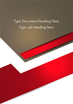 Abstract Cut Out Paper Shapes Word Template, Cover Page, 14609, Business — PoweredTemplate.com