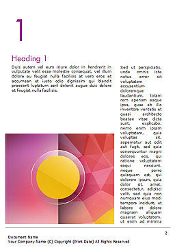 Yellow Circle on Pink Background Word Template First Inner Page