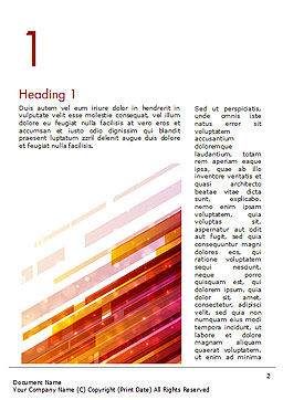 Straight Diagonal Lines Word Template First Inner Page