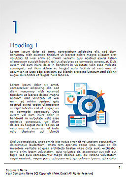 Online Marketing Concept Word Template, First Inner Page, 14615, Careers/Industry — PoweredTemplate.com