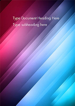 Abstract Bright Background with Diagonal Lines Word Template Cover Page