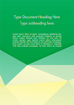 Paper Style Background Word Template, Cover Page, 14622, 3D — PoweredTemplate.com