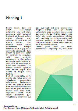 Paper Style Background Word Template, First Inner Page, 14622, 3D — PoweredTemplate.com