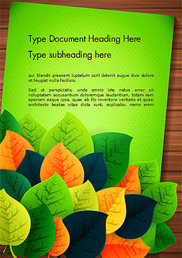 Rainbow Leaves Word Template Cover Page
