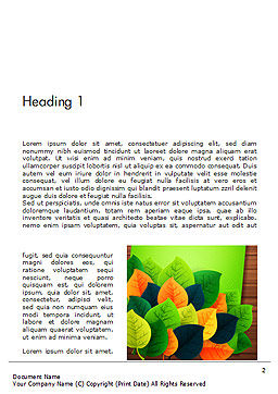 Rainbow Leaves Word Template First Inner Page