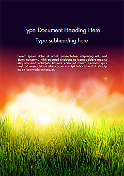 Dawning Word Template, Cover Page, 14625, Nature & Environment — PoweredTemplate.com
