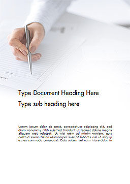 Woman Hand Filling in Document Word Template Cover Page
