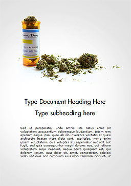 Medical Cannabis Word Template Cover Page