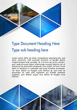 Abstract Triangular Geometric Word Template, Cover Page, 14640, Abstract/Textures — PoweredTemplate.com