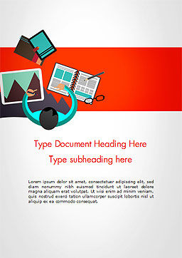 Graphic Designer Word Template, Cover Page, 14641, Business Concepts — PoweredTemplate.com