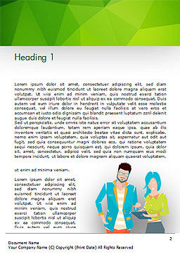 Discussion Between Young People Word Template First Inner Page