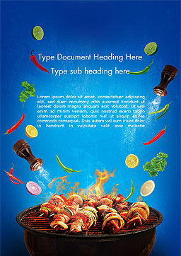 Grilling and Roasting Word Template Cover Page