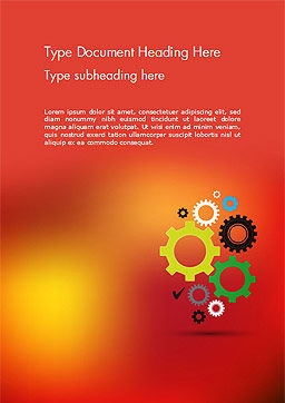 Colorful Gears Word Template, Cover Page, 14650, Business Concepts — PoweredTemplate.com