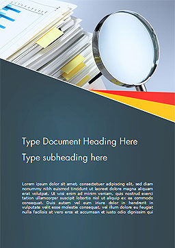 Investigate and Analyze Word Template, Cover Page, 14651, Consulting — PoweredTemplate.com