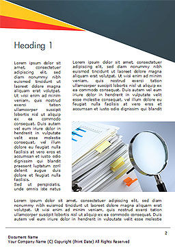 Investigate and Analyze Word Template, First Inner Page, 14651, Consulting — PoweredTemplate.com