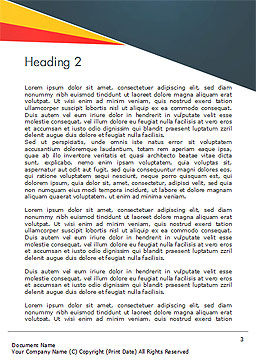Investigate and Analyze Word Template, Second Inner Page, 14651, Consulting — PoweredTemplate.com