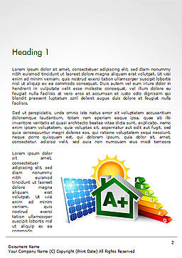 Energy Efficient House Word Template, First Inner Page, 14652, Technology, Science & Computers — PoweredTemplate.com