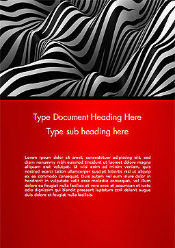 Zebra Abstract Surface Word Template, Cover Page, 14653, 3D — PoweredTemplate.com