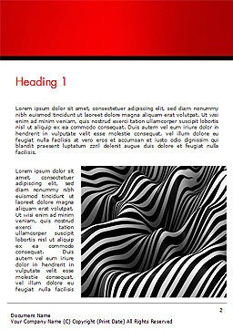 Zebra Abstract Surface Word Template, First Inner Page, 14653, 3D — PoweredTemplate.com