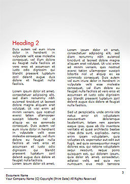 Successful Business Leader Word Template, Second Inner Page, 14654, 3D — PoweredTemplate.com