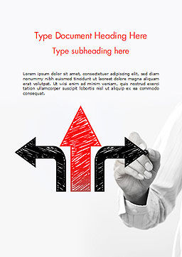 Three Arrows Word Template, Cover Page, 14656, Business Concepts — PoweredTemplate.com