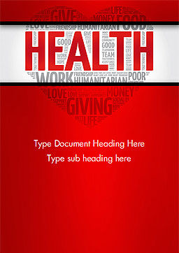 Health Word Cloud Word Template, Cover Page, 14659, Medical — PoweredTemplate.com