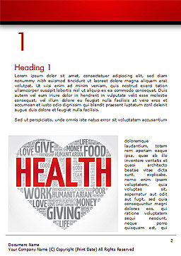 Health Word Cloud Word Template, First Inner Page, 14659, Medical — PoweredTemplate.com