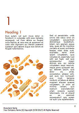 Bread Background Word Template, First Inner Page, 14663, Food & Beverage — PoweredTemplate.com