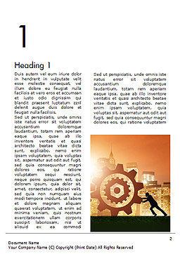 Teamwork Concept Word Template, First Inner Page, 14664, 3D — PoweredTemplate.com