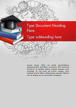 Education Theme Word Template Cover Page