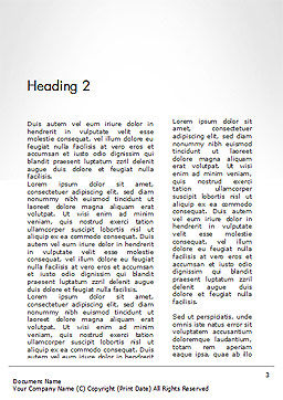 Thumbs Up Word Template Second Inner Page