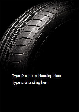 Tire Closeup Word Template Cover Page