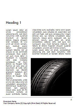 Tire Closeup Word Template First Inner Page