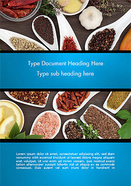 Culinary Spices and Herbs Word Template, Cover Page, 14668, Food & Beverage — PoweredTemplate.com