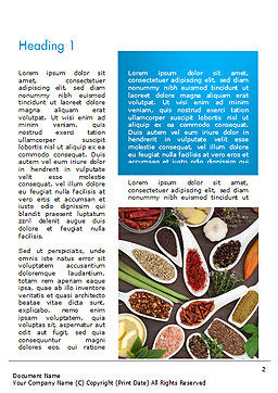 Culinary Spices and Herbs Word Template, First Inner Page, 14668, Food & Beverage — PoweredTemplate.com