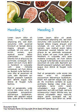 Culinary Spices and Herbs Word Template, Second Inner Page, 14668, Food & Beverage — PoweredTemplate.com
