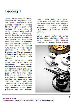 Car Accessories Word Template First Inner Page