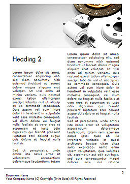 Car Accessories Word Template, Second Inner Page, 14673, Cars/Transportation — PoweredTemplate.com